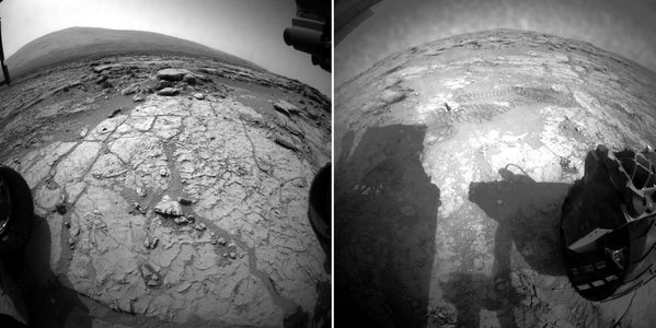 MSL Curiosity - Hazcam - Front and Rear - 27-02-2013 - 11h4