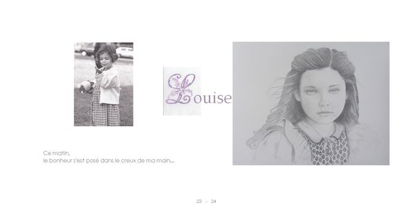 charline + jolie fille crayon + texte + lettre brode et