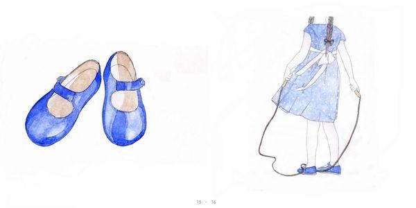chaussure babies + fillette corde page 15 et 16