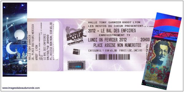 Enfoires 2012 Billet 6 fev