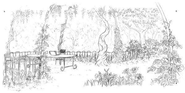 Jardin Tante HILDA coloriage