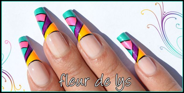 Nail Art Electric Pop