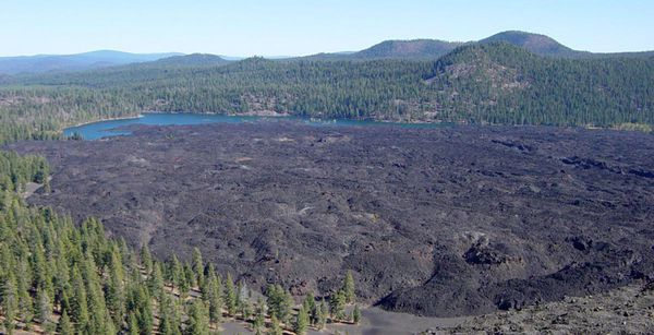 Fantastic Lava Beds from Cinder Cone in Lassen VNP - Daniel