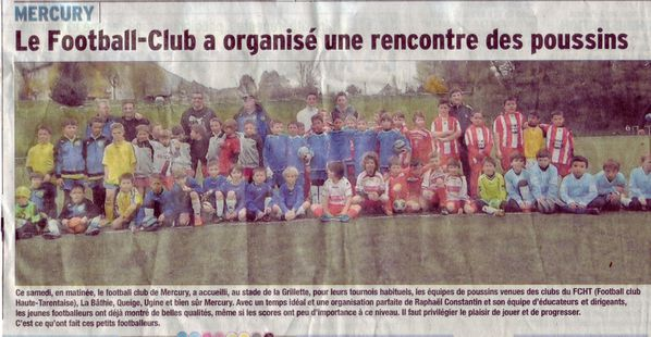 Article DL FC Merury U9 (7 Avril 2014)