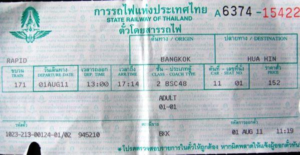 09.Hua Hin Ticket Train