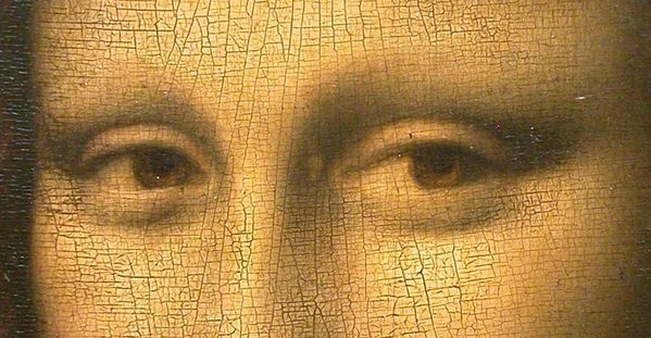 Mona Lisa detail eyes