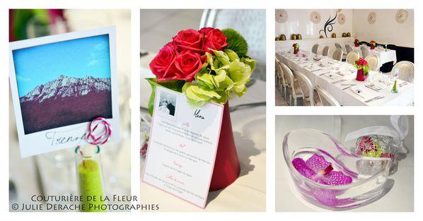 Mariage Baroque Rose et Vert anis6