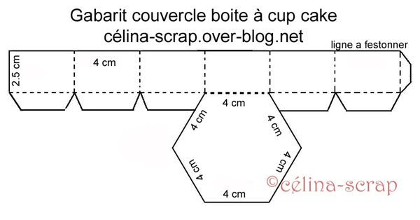 Cup Cake Couvercle Bouton