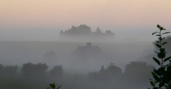 022 Morning mist, Normandy Inn, Le val borel, Montbray