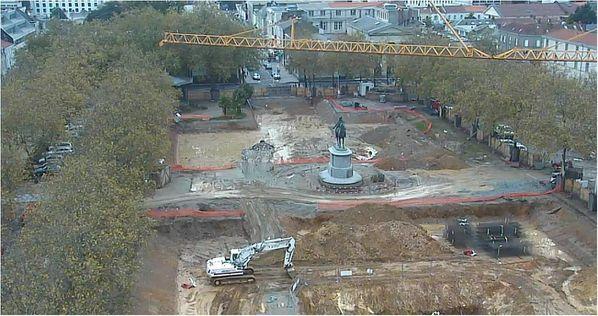 Place Napoléon la Roche sur Yon 22 octobre 2012 webcam