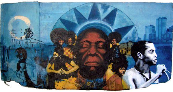 Afrobeat woodpainting mael 2011b