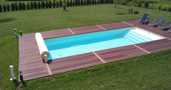 Travaux finis for Terrasse composite autour piscine