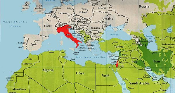 carte pays musulman