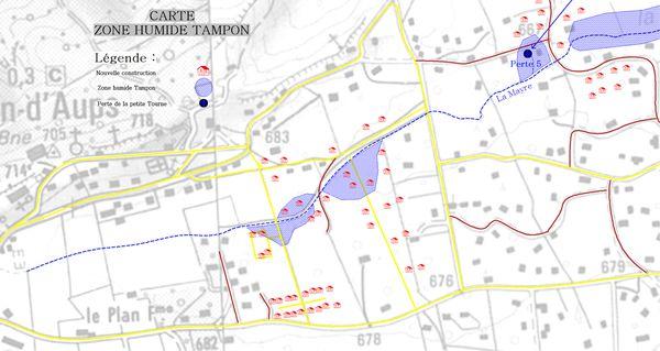 Carte des zones Tampon