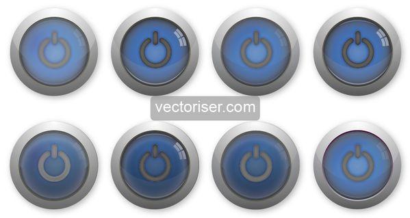 Vectoriser image vectoriel boutons avec reflets