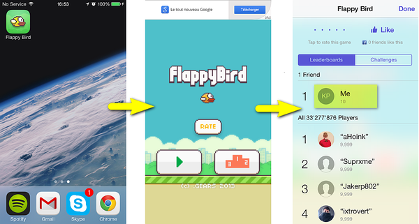 backup and transfer iphone games flappy bird