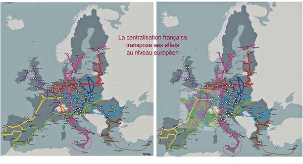 Couloirs France-Europe juxtaposés