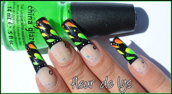Nail Art fluo tendance