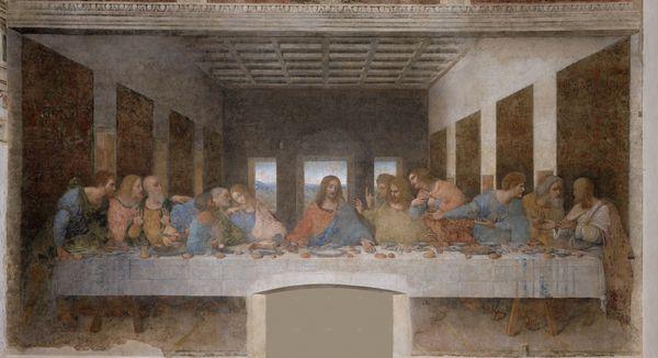 Leonard de vinci, la cène, 1495-1498comp