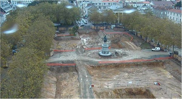 Place Napoléon Roche-sur-Yon webcam