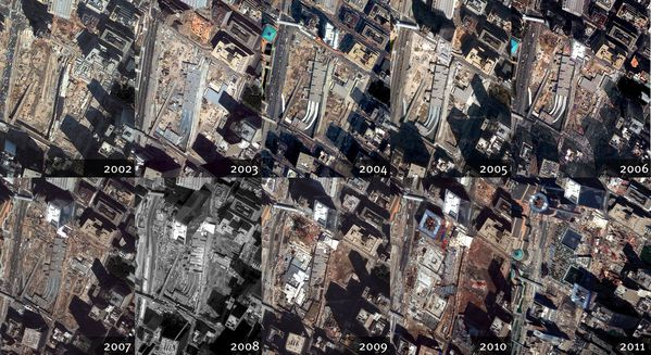 Digital Globe - WTC - Ground Zero - New York - 2002-2011