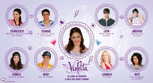 Les acteurs de violetta saison