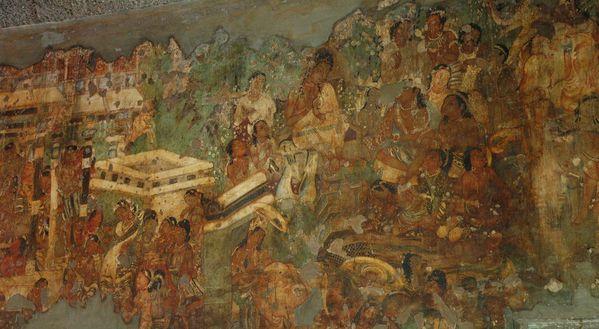 Ajanta fresques mural (7)