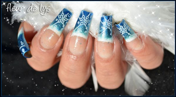 Nail Art Stamping neige