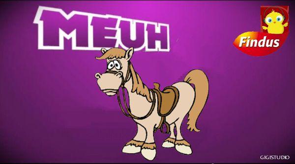poussin piou cheval findus parodie meuh