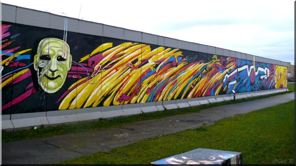 East side gallery Mulhen str Mur de Berlin (2)