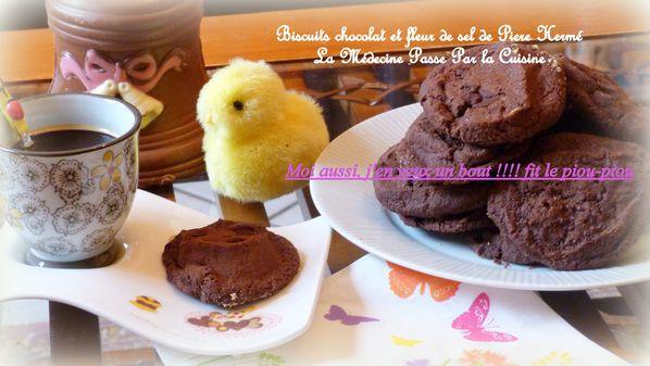 biscuits chocolat fleur de sel pierre hermé poussin