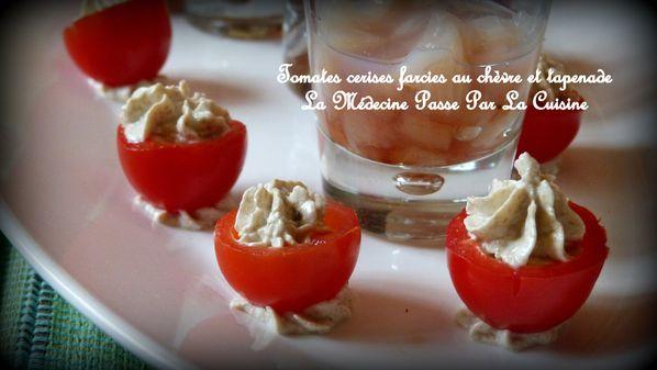 tomates cerises farcies chèvre tapenade