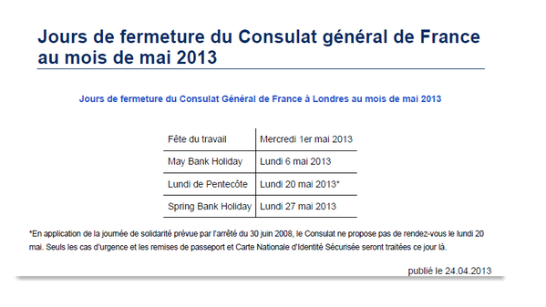 Consulat France Londres