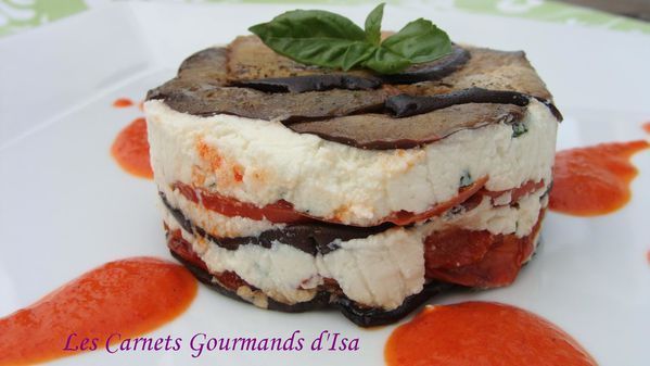 Legumes grilles en millefeuille de brousse coulis de for Entrees legeres