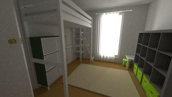 Une chambre d 39 enfant en 3d design d 39 espace for Chambre en 3d