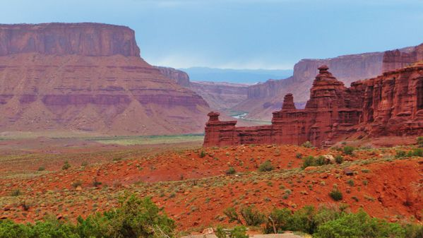 Jour 4 Fisher Towers vue