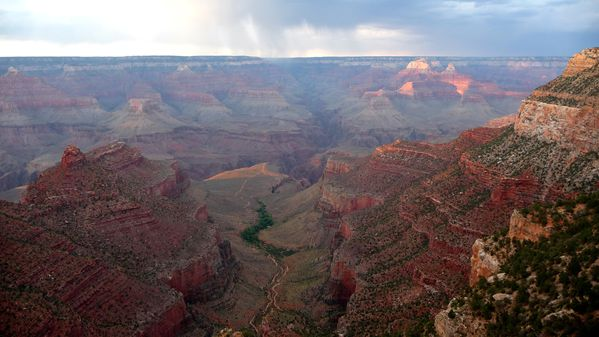 Grand Canyon panorama lever soleil