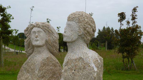 4060 Bustes des résistants communistes Juliette et André