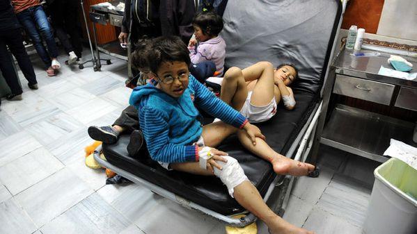 Syrie enfant blessé jambe