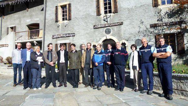 visite du préfet à Chamonix 1
