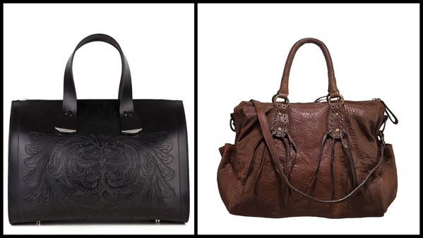 sac cuir noir Uterque - sac cuir marron who's the queen IKK