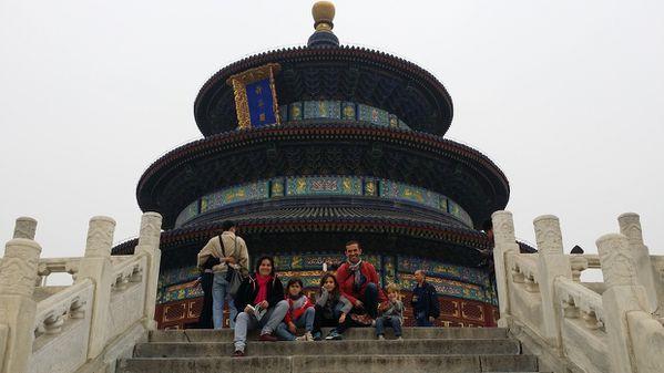 Le Groupe au palais du temple du ciel