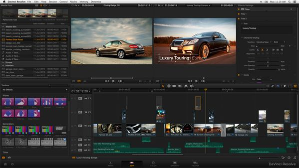 DAVINCI RESOLVE 10 edit