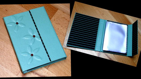 portecarte fidélité turquoise