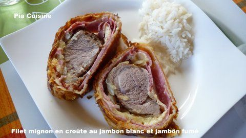 filet mignon de porc au jambon blanc et jambon fum le blog de pia. Black Bedroom Furniture Sets. Home Design Ideas