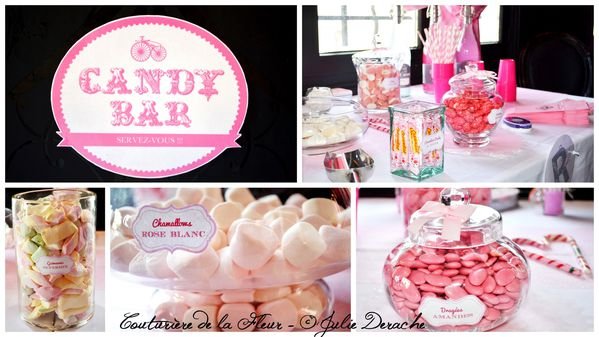 Mariage Marquise - Mariage Plume Rose et Blanc - Candy Bar2