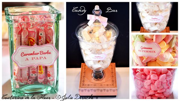 Mariage Marquise - Mariage Plume Rose et Blanc - Candy Bar5
