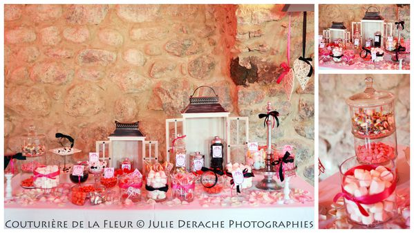 Candy Bar Boudoir Rose et Noir (2)
