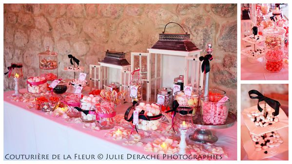 Candy Bar Boudoir Rose et Noir (5)