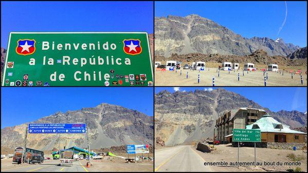 1 Frontière, vers Valparaiso, vers Santiago